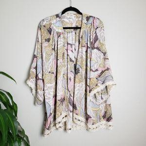 Jodifl Floral Print Lace Kimono